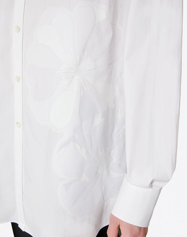 OVERSIZE SHIRT WITH HEAT-SEALED FLOWER