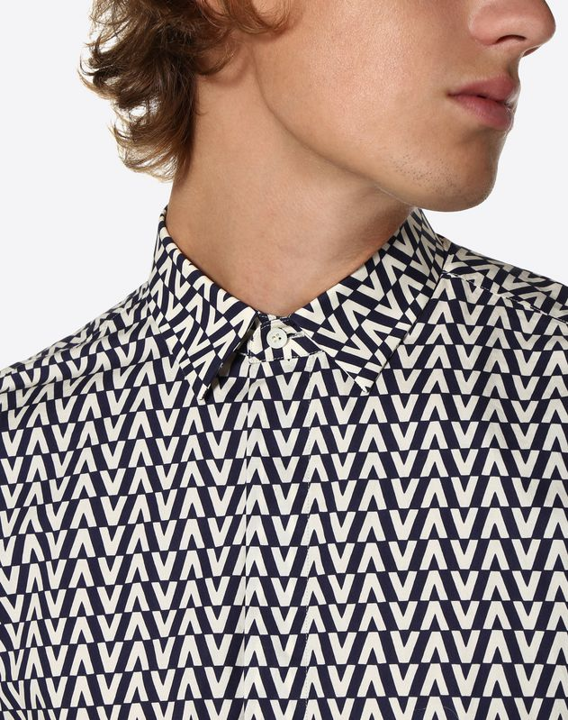 OPTICAL VALENTINO PRINT SHIRT