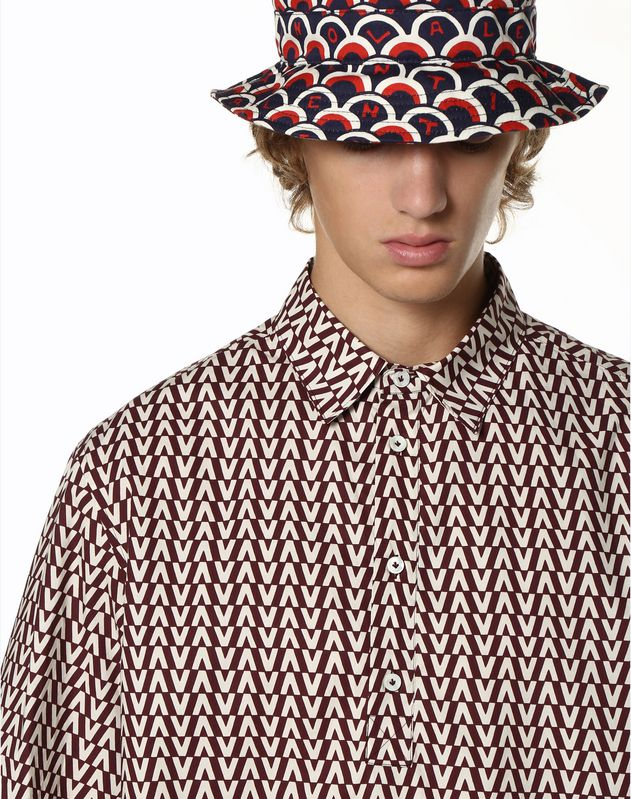 OPTICAL VALENTINO 印纹 POLO 衬衫