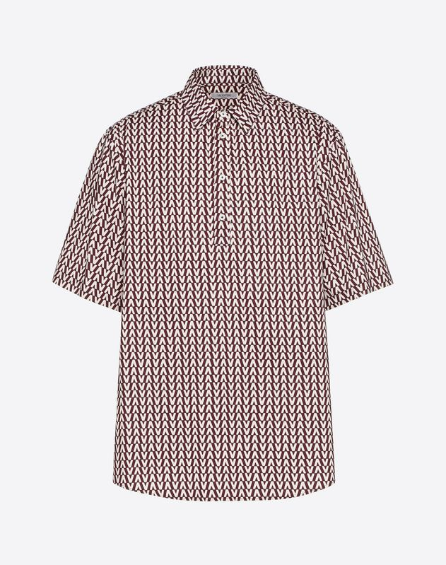 OPTICAL VALENTINO PRINT POLO SHIRT