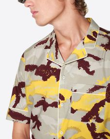 CAMOUART HALF-SLEEVE JACKET WITH PIPING