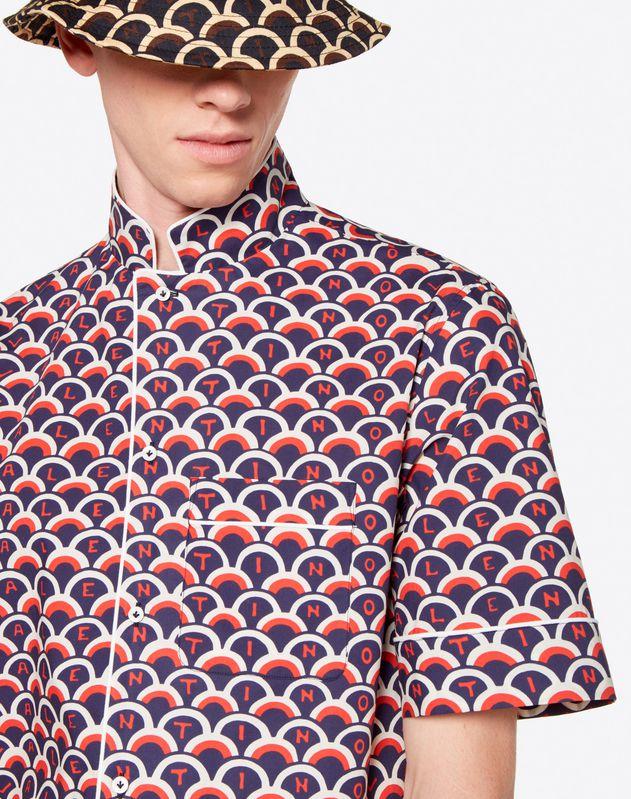 VALENTINO SCALE 印纹短袖衬衫