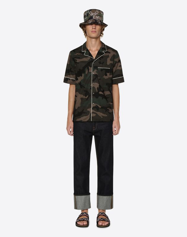 VALENTINO TOWER PRINT SHORT-SLEEVE SHIRT