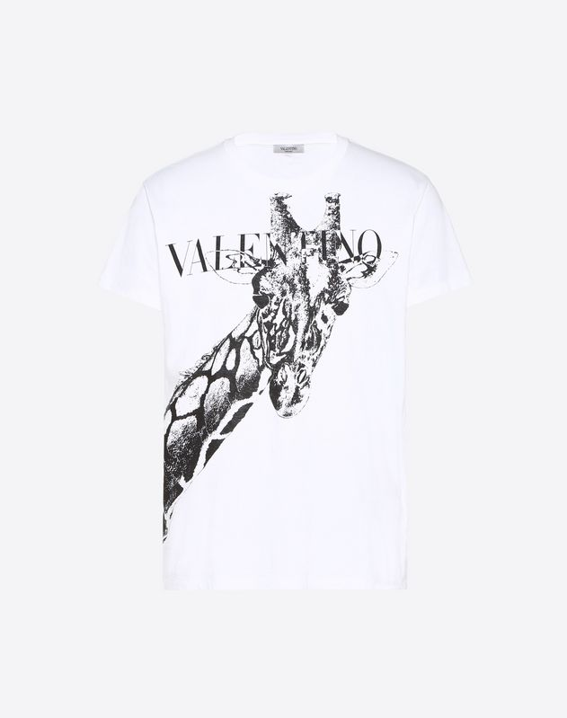 长颈鹿印纹 T 恤