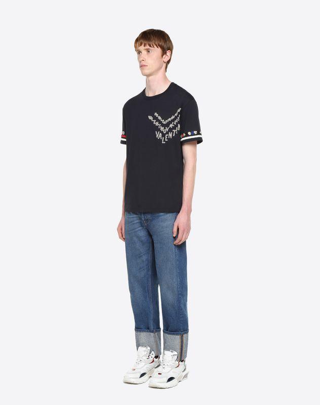 VALENTINO CHEVRON 刺绣 T 恤