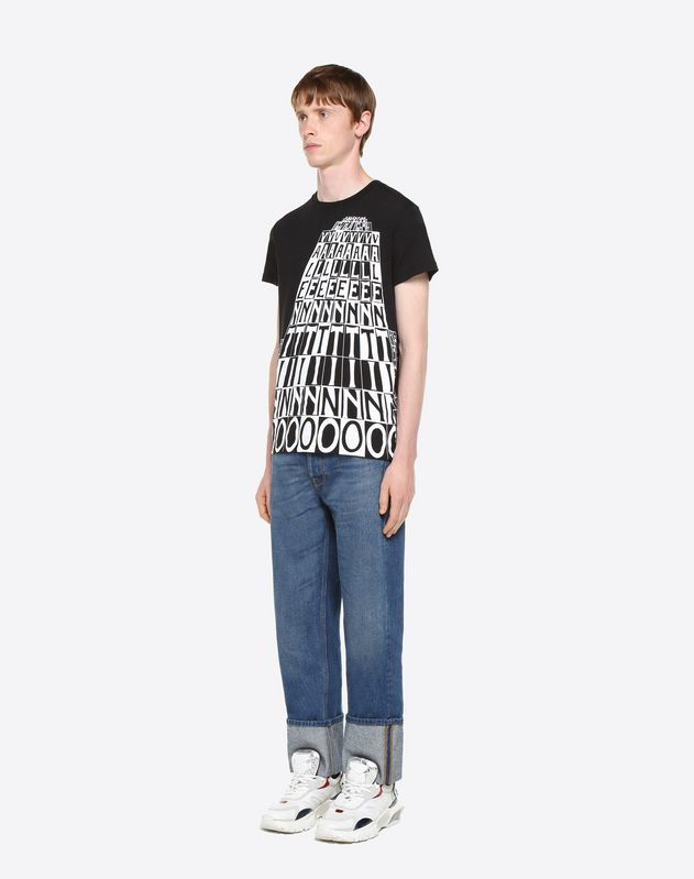 VALENTINO TOWER PRINT T-SHIRT