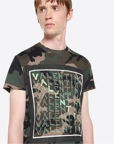 V FOR VALENTINO PRINT T-SHIRT