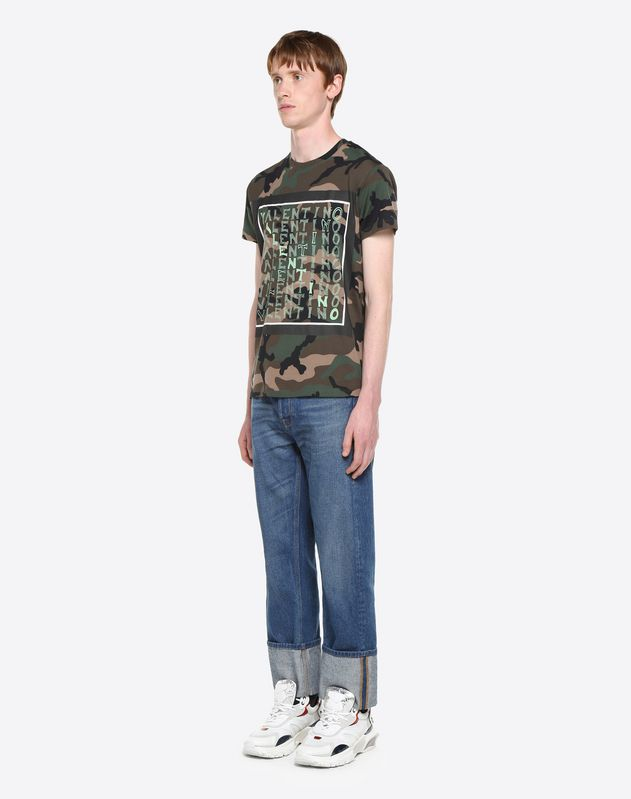 V FOR VALENTINO PRINT T-SHIRT