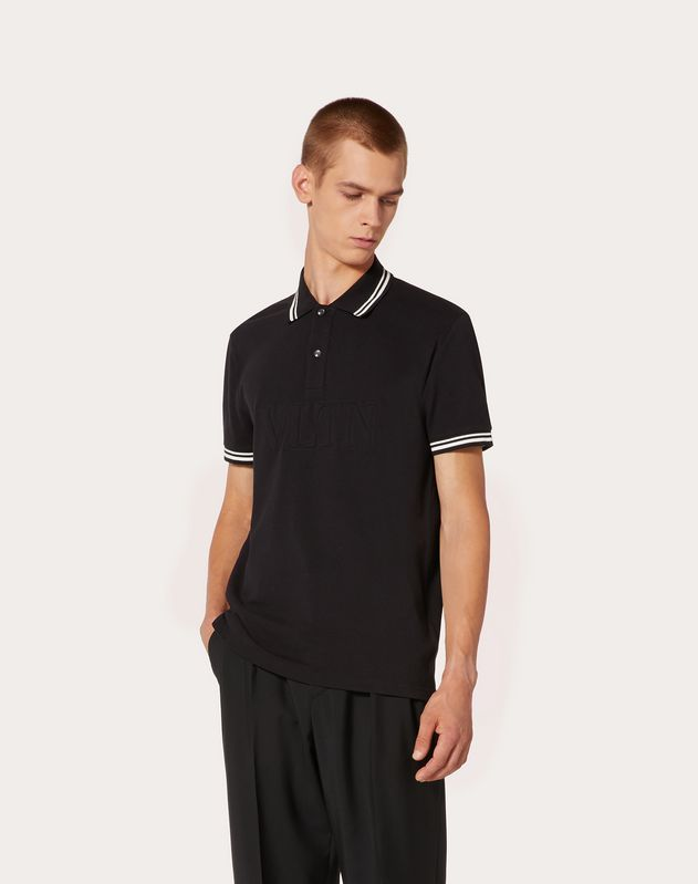 EMBOSSED VLTN POLO SHIRT