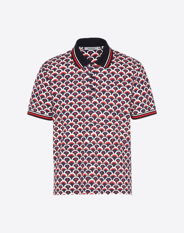 VALENTINO SCALE POLO SHIRT