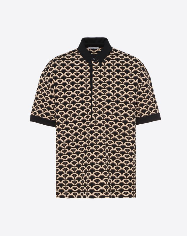 VALENTINO SCALE VISCOSE POLO SHIRT