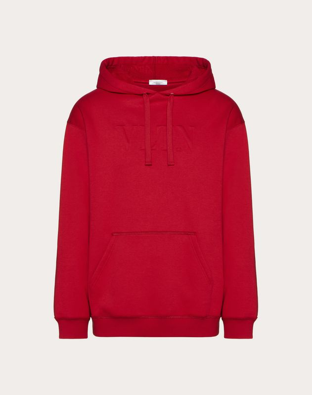 EMBOSSED VLTN HOODED SWEATSHIRT