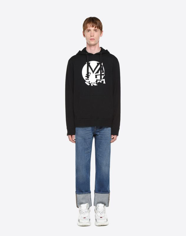 VALENTINO SPIRAL HOODED SWEATSHIRT