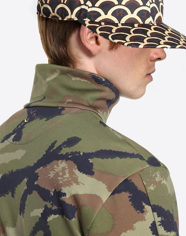 CAMOUART ZIPPED SWEATSHIRT