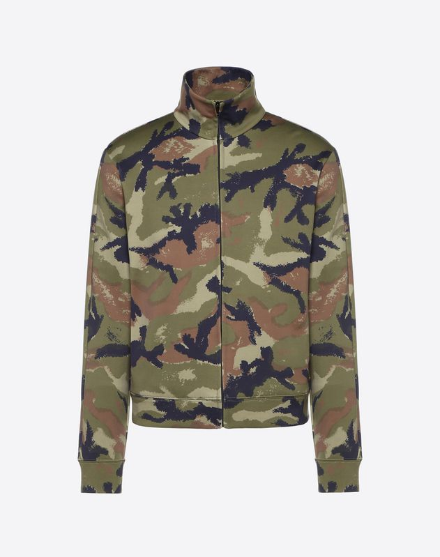 CAMOUART ZIPPERED SWEATSHIRT