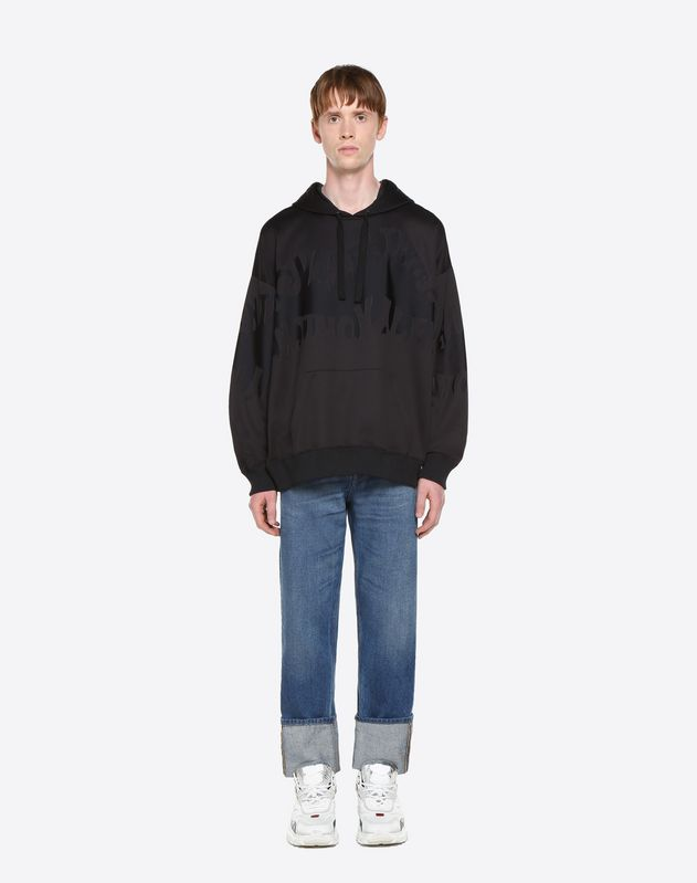 VALENTINO WAVES HOODED SWEATSHIRT