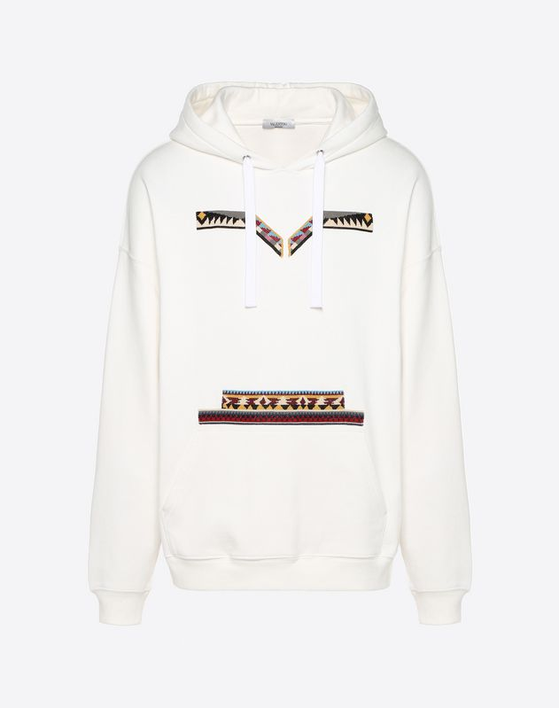 OVERSIZE SWEATSHIRT WITH GEOMETRIC EMBROIDERY