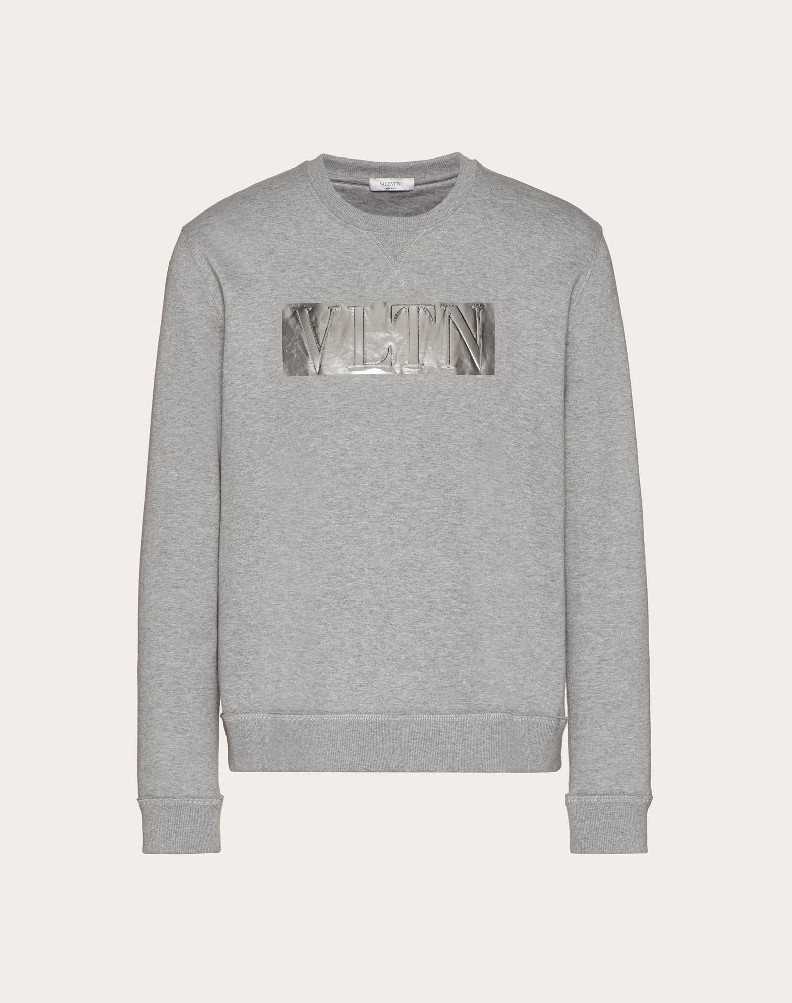 LAMINATED EMBOSSED VLTN CREW-NECK SWEATSHIRT