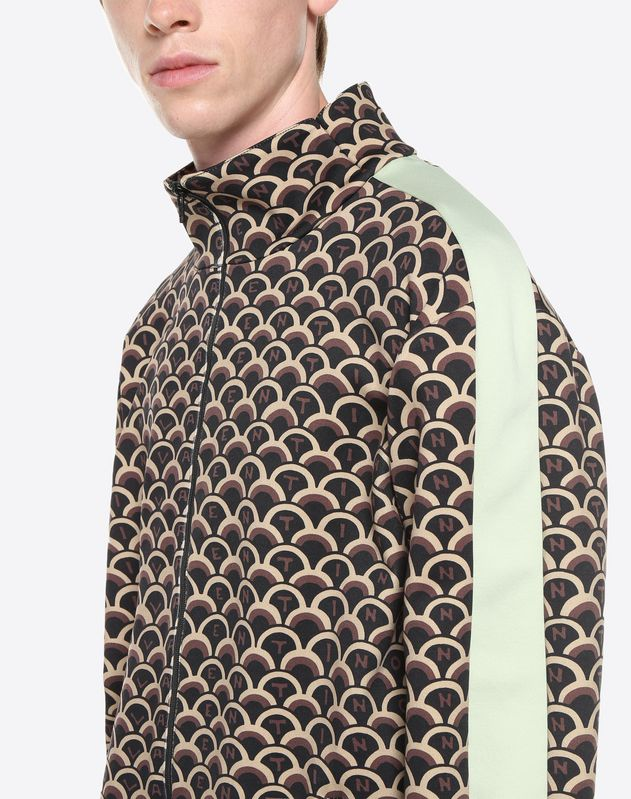 VALENTINO SCALE ZIPPERED SWEATSHIRT