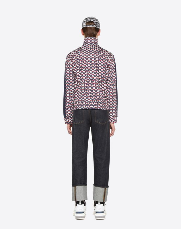 VALENTINO SCALE ZIPPED SWEATSHIRT