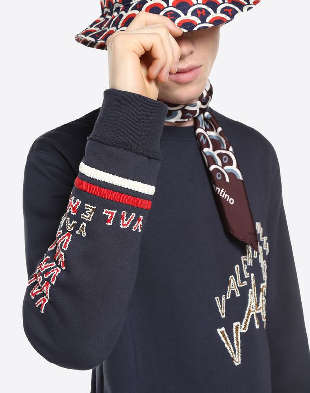 SWEAT-SHIRT BRODERIE VALENTINO CHEVRON