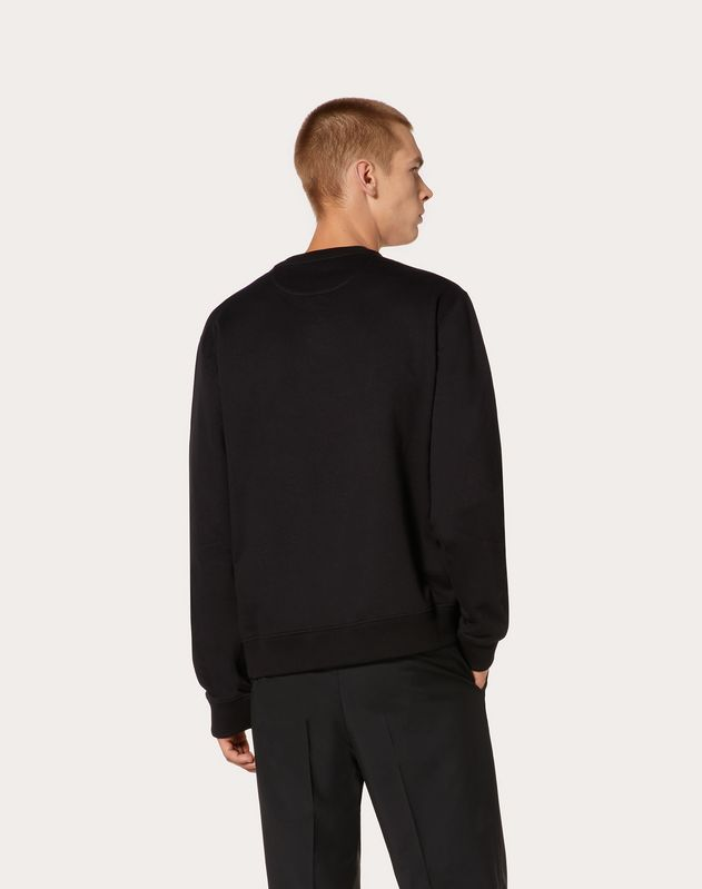 EMBOSSED VLTN CREW-NECK SWEATSHIRT