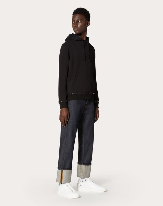 ROCKSTUD UNTITLED HOODED JERSEY SWEATSHIRT