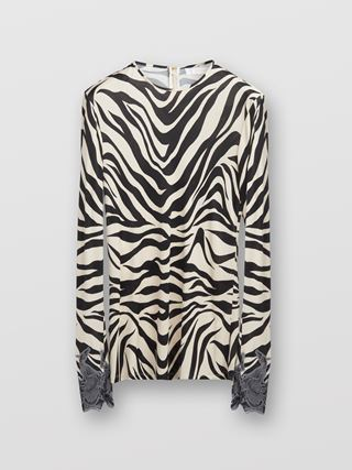 Fitted long-sleeve top