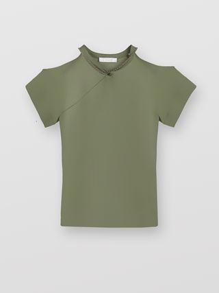 T-shirt con apertura