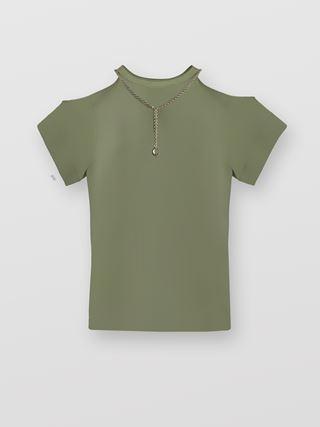 T-shirt à découpes