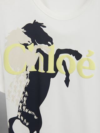Horse-print T-shirt