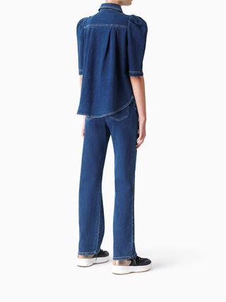 Puff-sleeve shirt