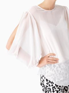 Slash-detail blouse