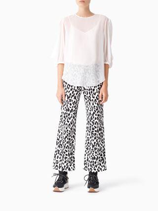 Slash-detail blouse