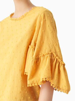 Flared-sleeve top