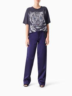 """T-shirt large en coton à imprimé """"Tiger"""""""