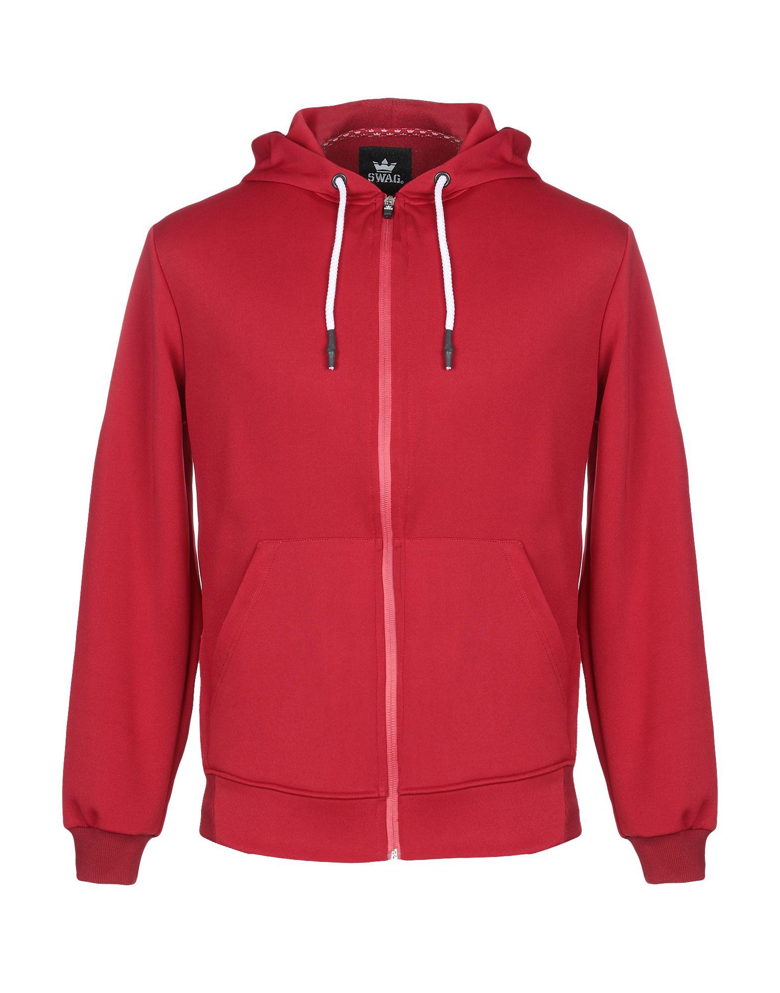 《セール開催中》SWAG メンズ スウェットシャツ レッド M ポリエステル 95% / ポリウレタン 5%