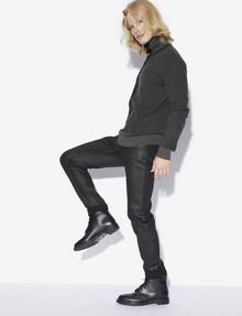 ARMANI EXCHANGE J75 SLIM-FIT COATED BLACK JEAN Slim fit JEANS [*** pickupInStoreShippingNotGuaranteed_info ***] a