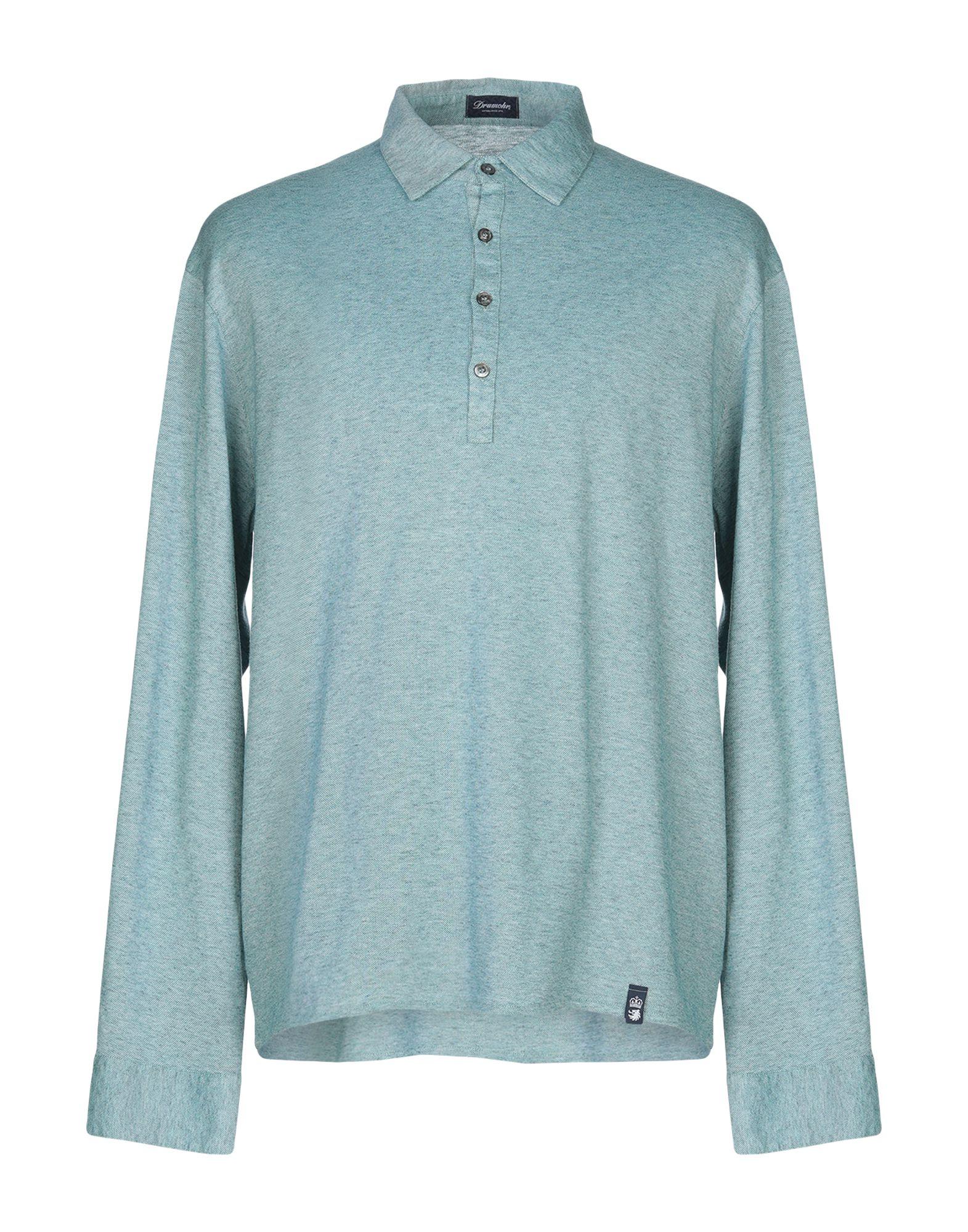 《送料無料》DRUMOHR メンズ ポロシャツ ディープジェード XL コットン 100%