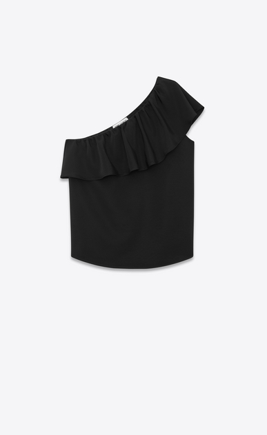 Ruffled blouse in faille