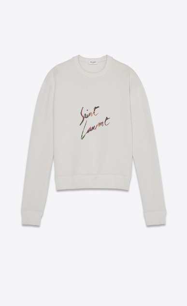 """Saint Laurent signature"" sweatshirt"