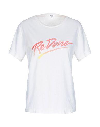 Купить Женскую футболку RE/DONE цвет слоновая кость