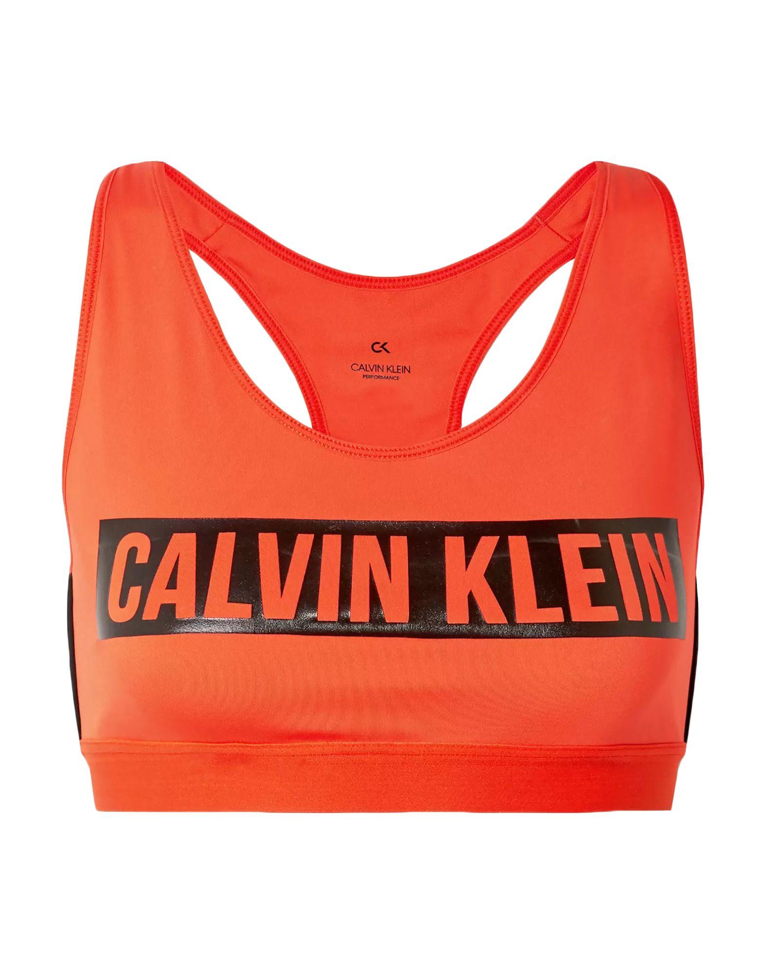 《セール開催中》CALVIN KLEIN PERFORMANCE レディース ブラジャー オレンジ S ポリエステル 79% / ポリウレタン 21% RACERBACK SB LOGO