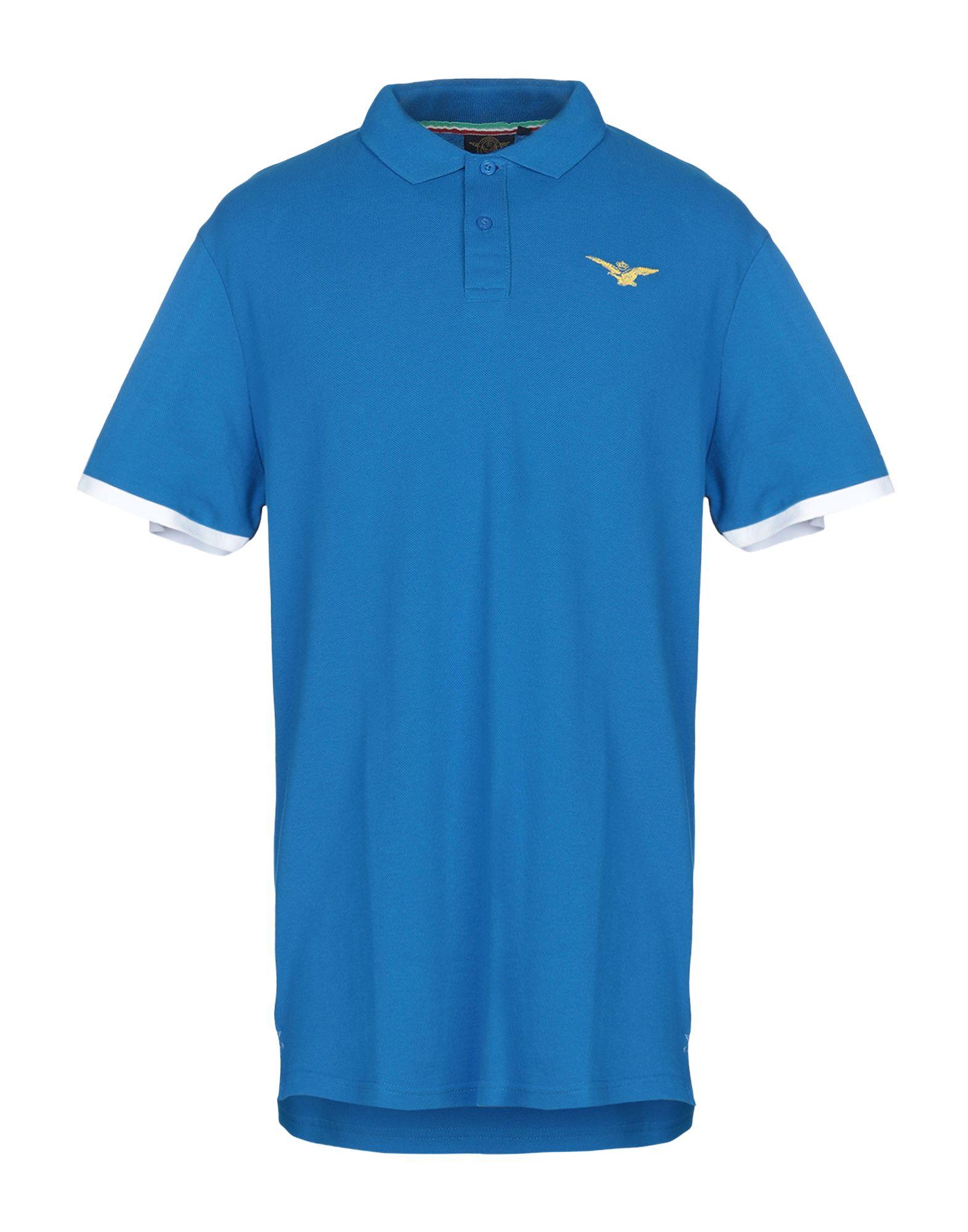 《セール開催中》SAI AMBROSINI メンズ ポロシャツ アジュールブルー XXL コットン 100%