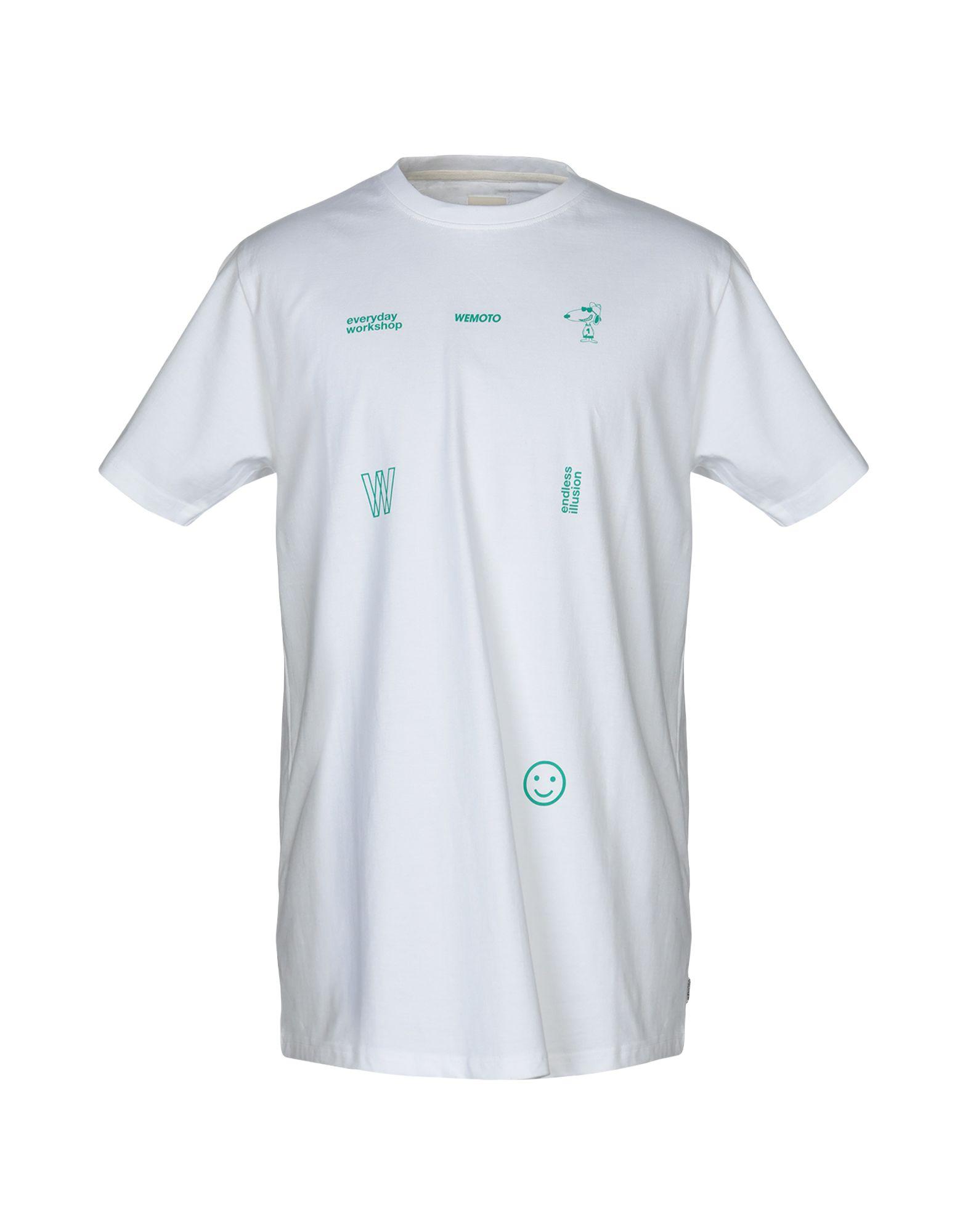 《送料無料》WEMOTO メンズ T シャツ ホワイト XL コットン 100%