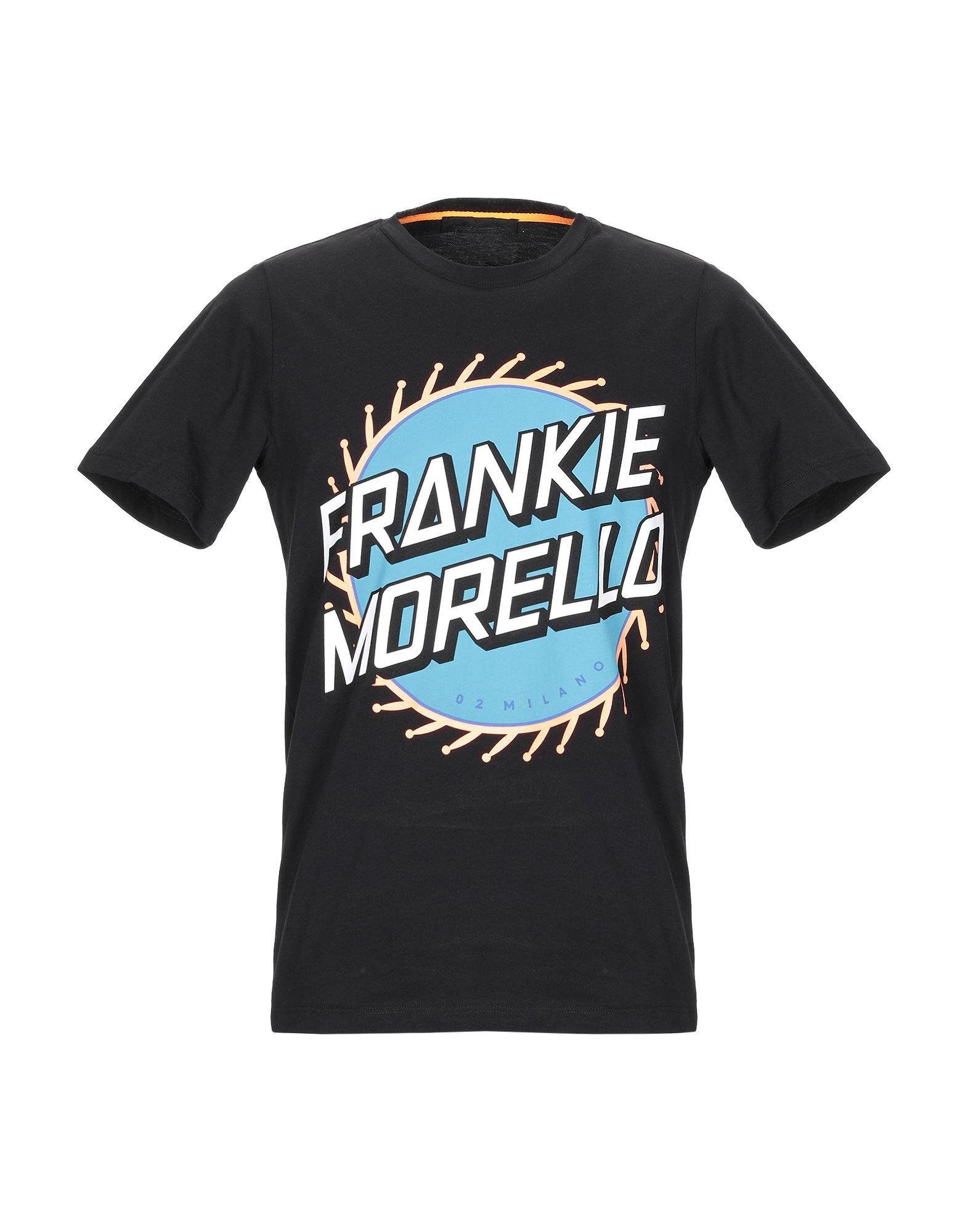 《送料無料》FRANKIE MORELLO メンズ T シャツ ブラック XS コットン 100%
