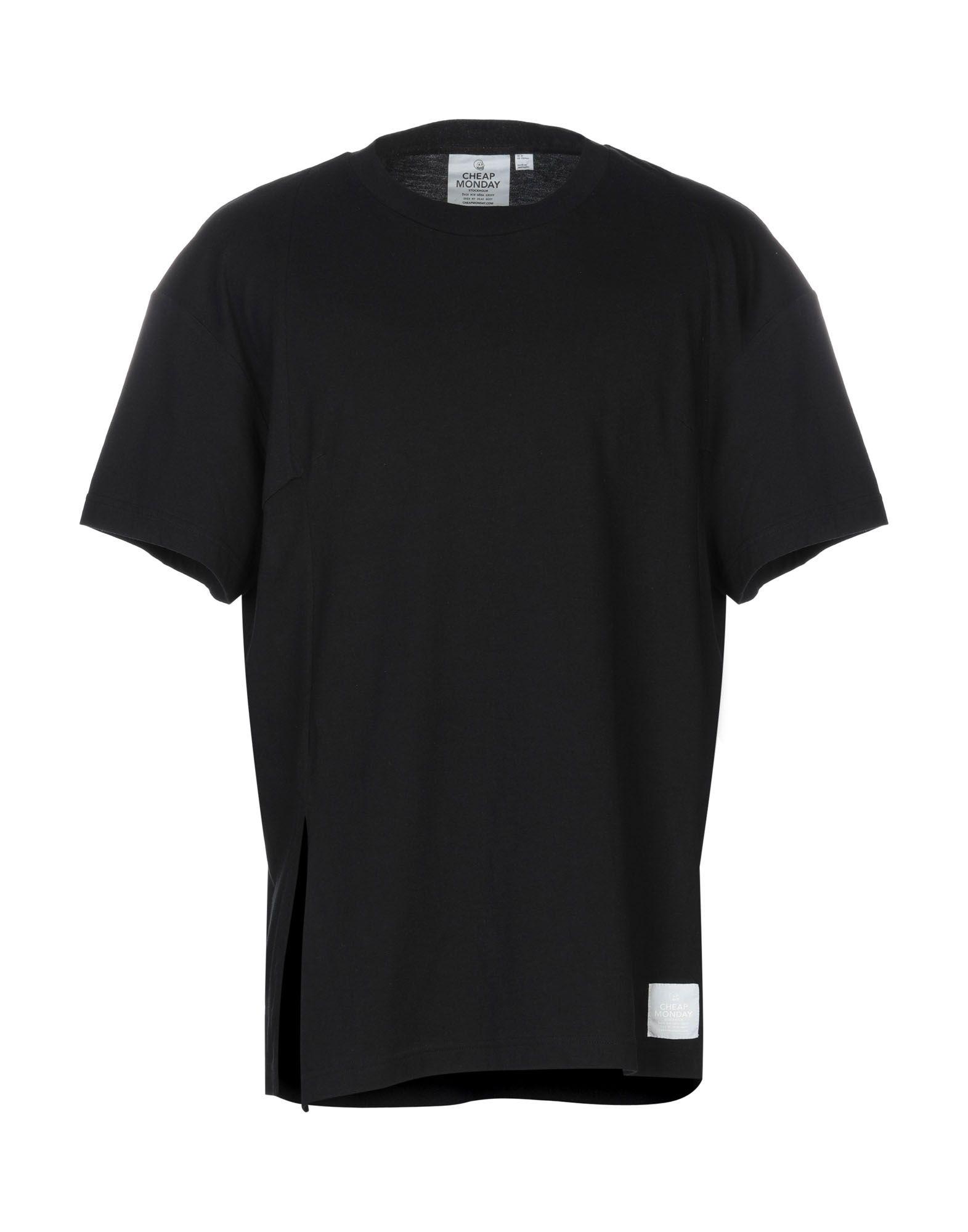 《送料無料》CHEAP MONDAY メンズ T シャツ ブラック XS コットン 100%