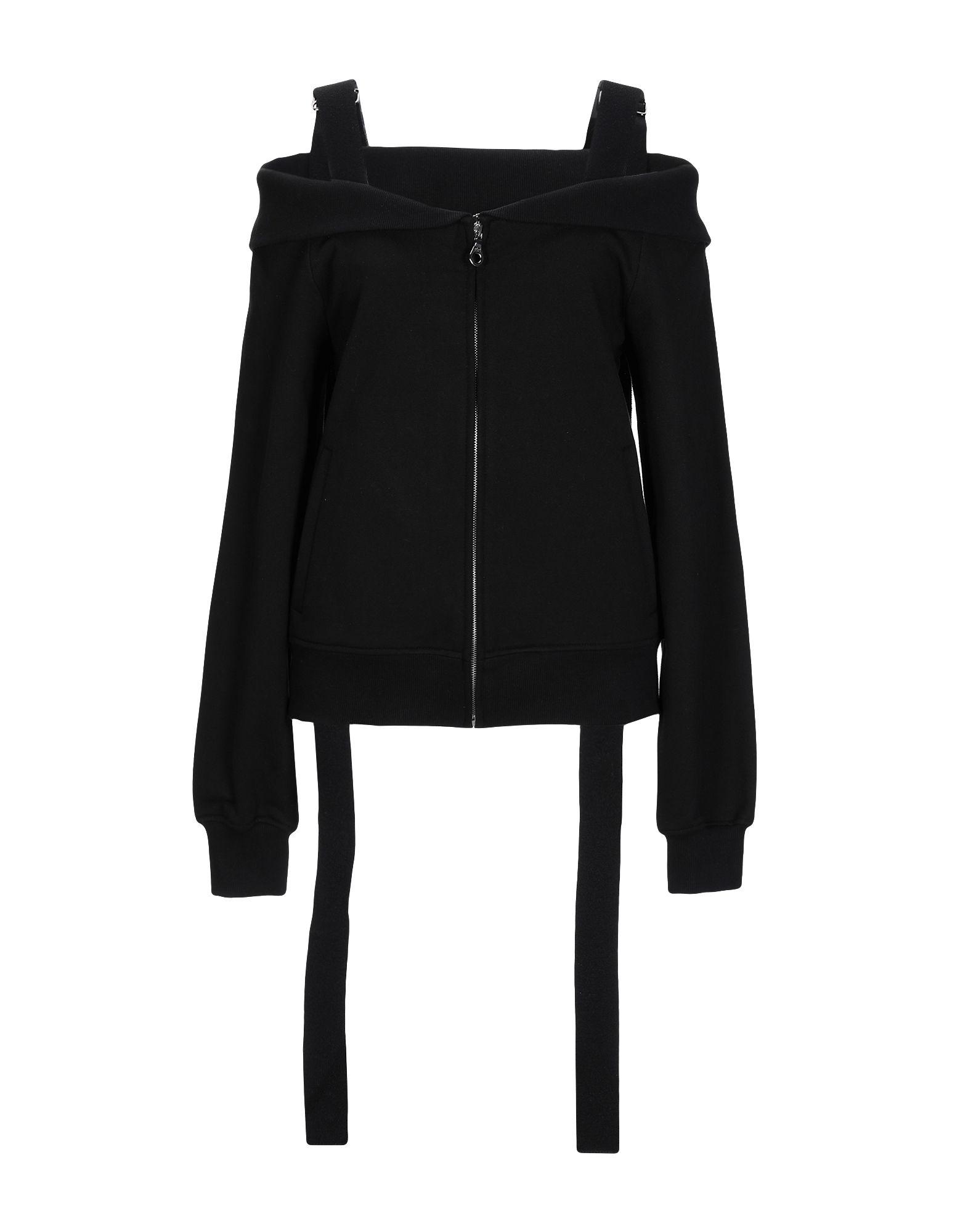 《送料無料》GOEN.J レディース スウェットシャツ ブラック S コットン 100%