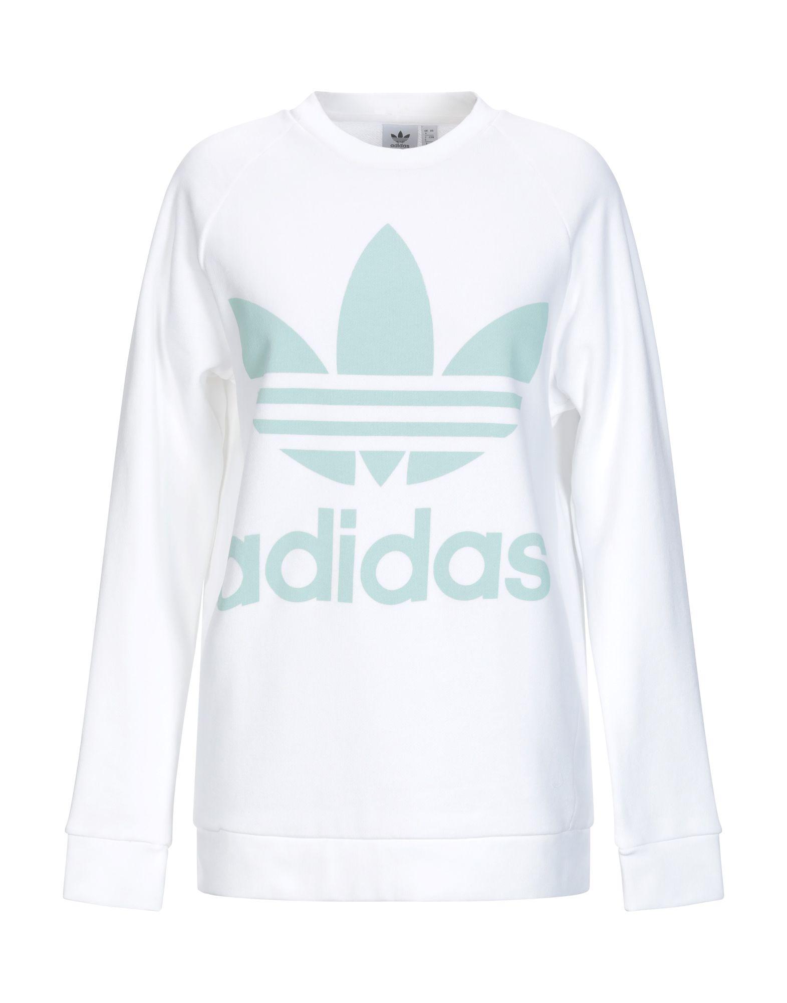 《送料無料》ADIDAS ORIGINALS レディース スウェットシャツ ホワイト 30 コットン 100% / ポリウレタン