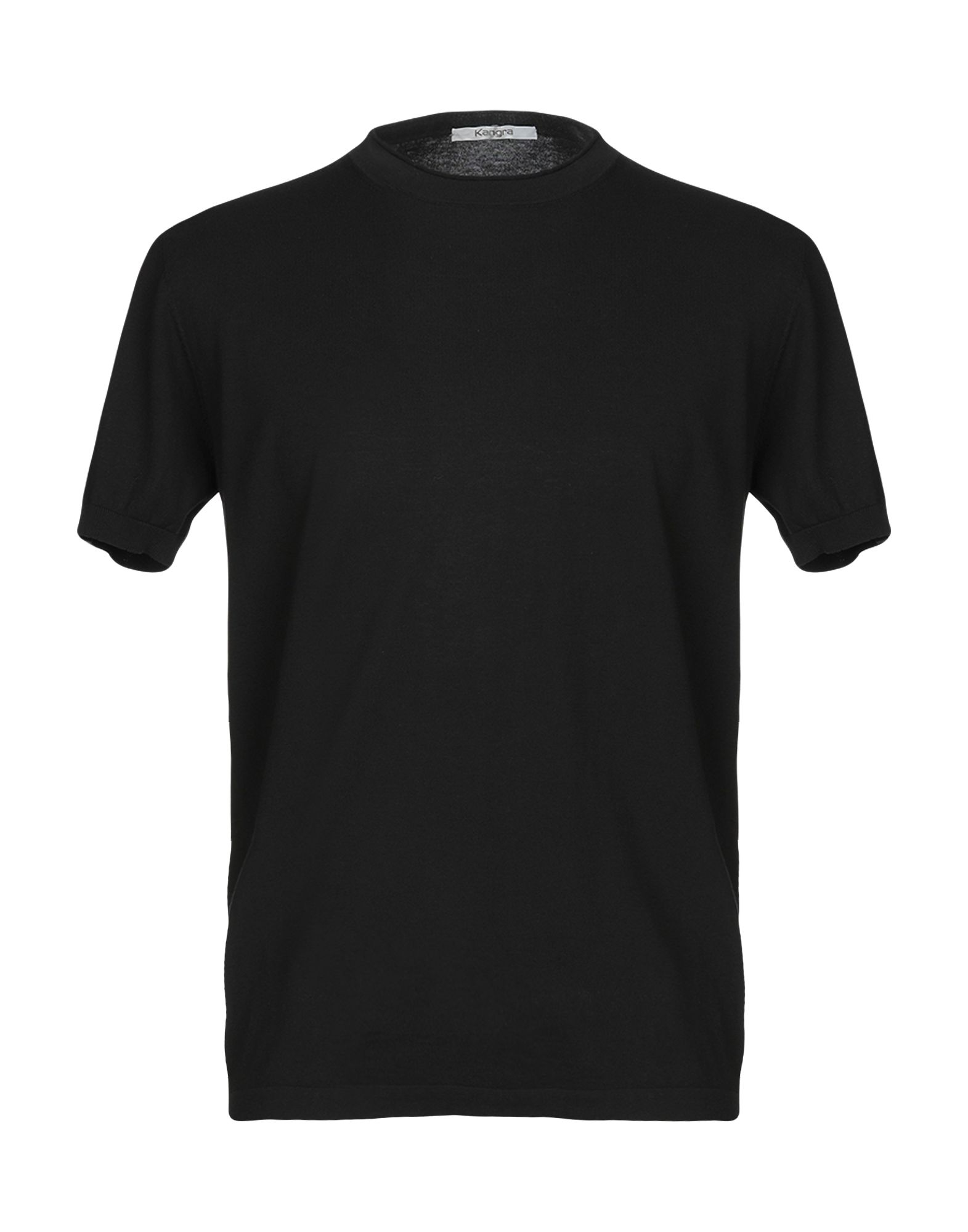 《送料無料》KANGRA CASHMERE メンズ T シャツ ブラック 50 コットン 100%